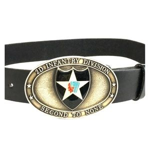 Army 2nd Infantry Division Belt and Buckle